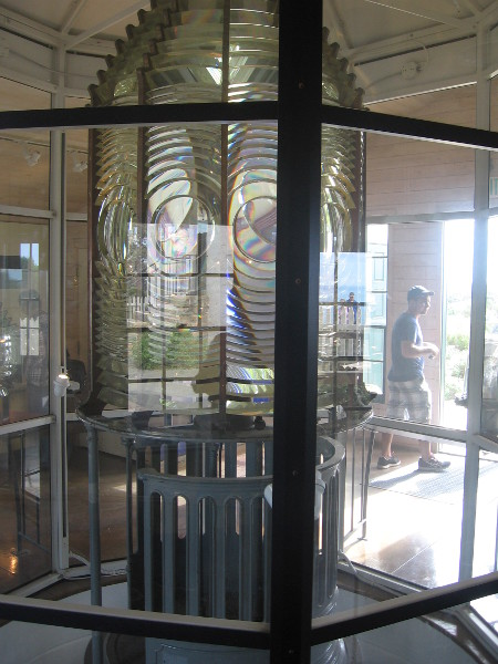 This 3rd Order Fresnel lens was used by the New Point Loma Lighthouse, built in 1891 down by the water.