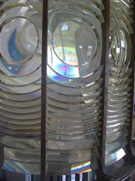 An optical wonder, this huge lens is an amazing, highly polished light bender.
