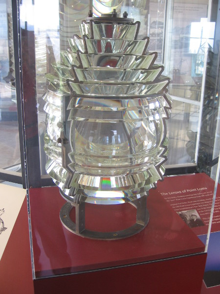 This small 5th Order lens lighted the Ballast Point Lighthouse from 1890 to 1960.