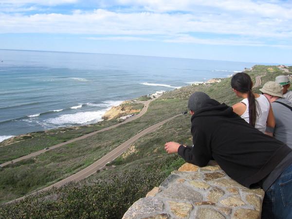 Looking northwest toward the tidepools below and Pacific Ocean breakers.