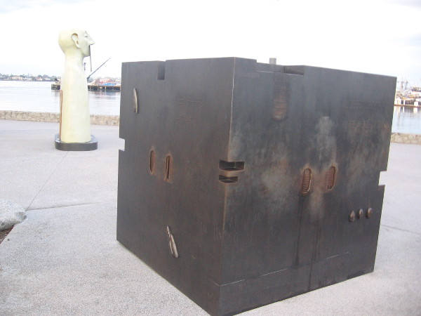 The black steel box might contain someone who would like to speak.