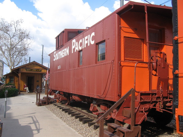 Southern Pacific Railroad caboose can be boarded free by visitors on Saturdays, 1-4 pm.