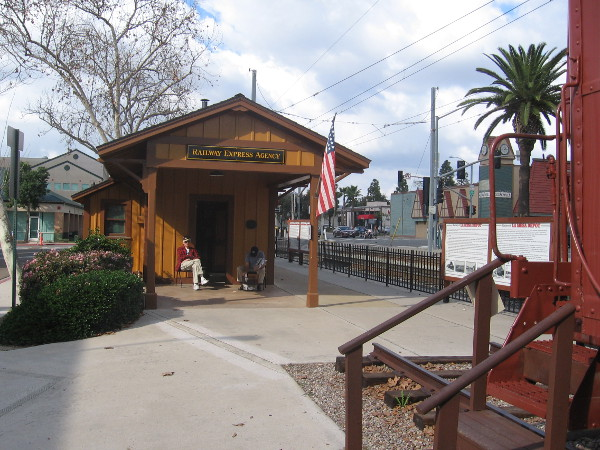 The small La Mesa depot sits near tracks now used by the San Diego Trolley Orange Line.