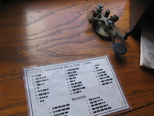 The telegraph key still works!