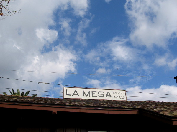 The La Mesa Depot Museum is a fun place to visit on a Saturday afternoon!
