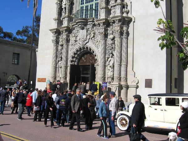 Crowd disperses from ribbon cutting ceremony on another beautiful San Diego day!