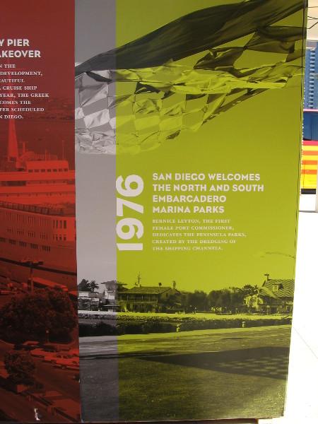 1976: North and South Embarcadero Marina Parks are dedicated.