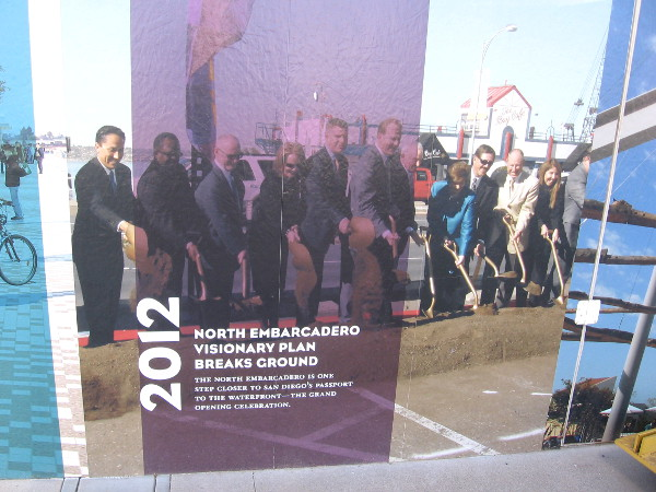 2012: North Embarcadero Visionary Plan breaks ground nearby.