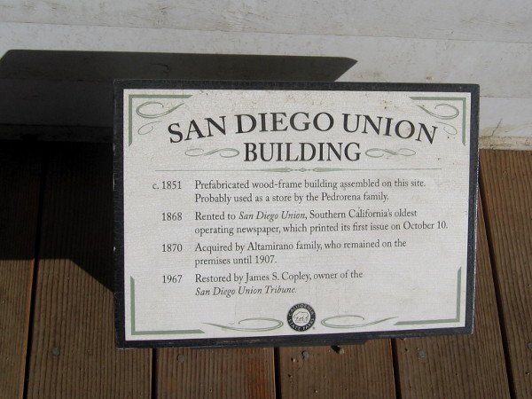 The prefabricated wood-frame building was erected in 1851.