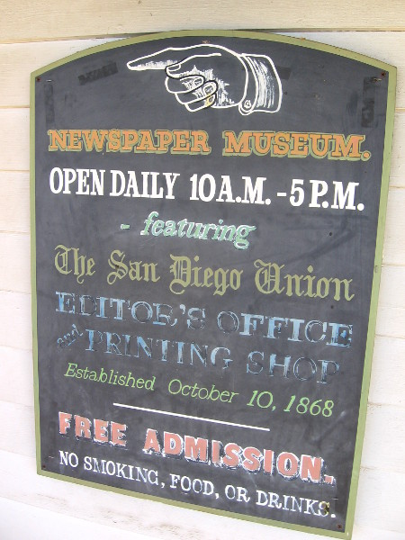 The Newspaper Museum is open daily from 10 to 5.