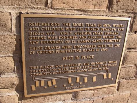 More than 20 men, women and children lie buried beneath San Diego Avenue.