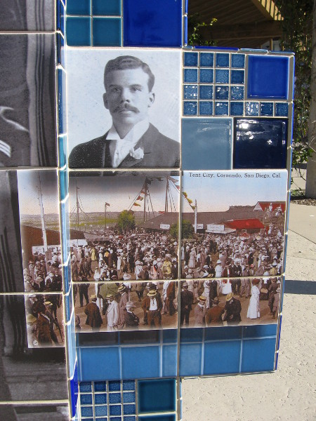 Old photographic portrait and postcard of Tent City.