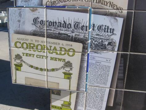 Coronado Tent City News was a popular newspaper.