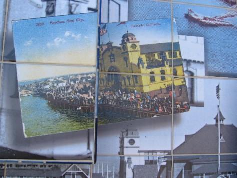 A postcard shows a crowd around Pavilion at Tent City.