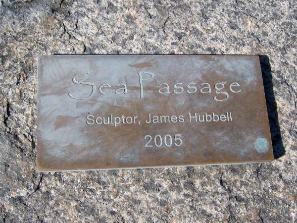 Sea Passage was created by noted sculptor James T. Hubbell.