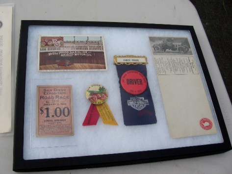 Collectibles from 1915 road race in Point Loma that kicked off Panama-California Exposition!