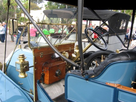 Many of these beautiful old cars contain wood, brass and leather.