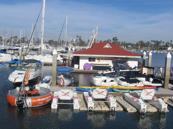 The Barbeque Donut can be found at Seaforth boat rental dock in Coronado.