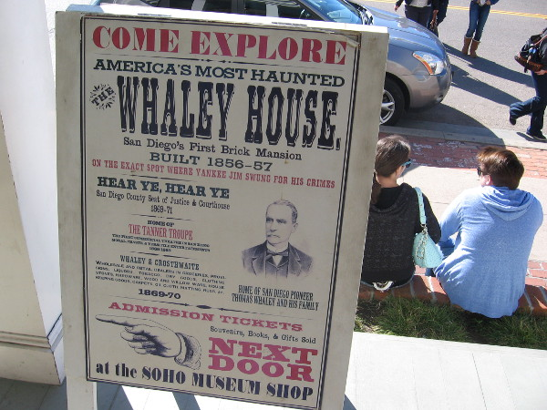 Whaley House, built 1856-57, is the oldest brick structure in southern California.