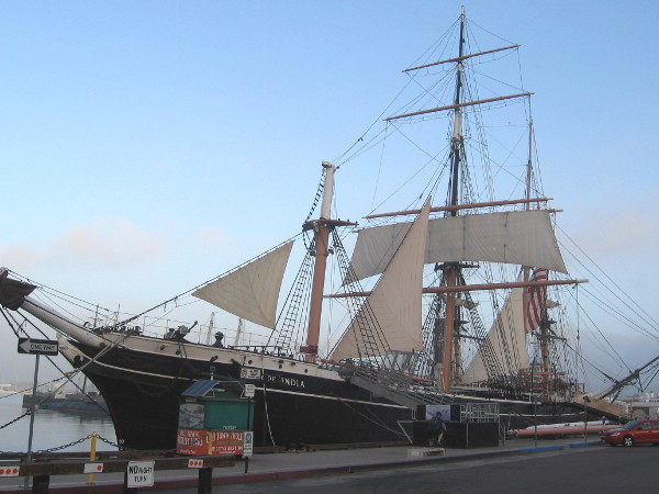A familiar sight along Harbor Drive on San Diego's Embarcadero.