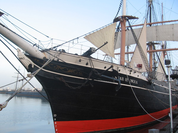 Bow of Star of India includes the classic female figurehead.