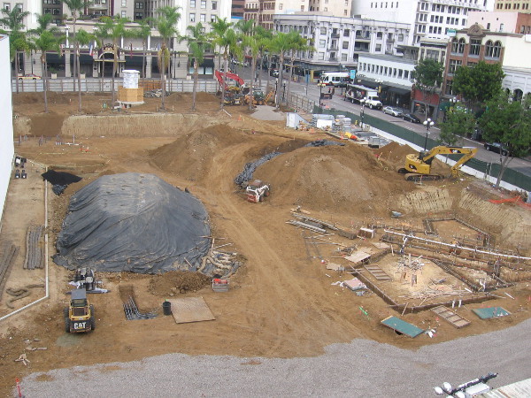 Construction of the new Horton Plaza Park is well underway in early 2015.