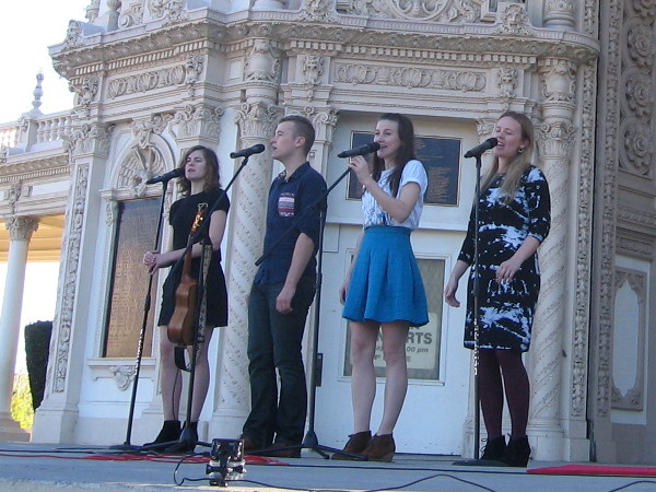 The von Trapp family sings live on stage at San Diego's Spreckels Organ Pavilion.