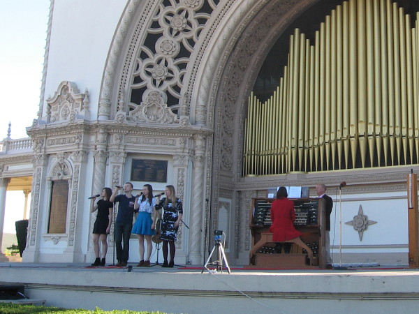 Today's Sunday afternoon concert included Dr. Carol Williams, San Diego's Civic Organist.