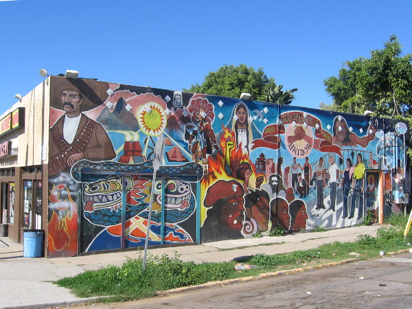 Sherman Heights residents painted this wall in 1980, with help from local artist Mario Torero.