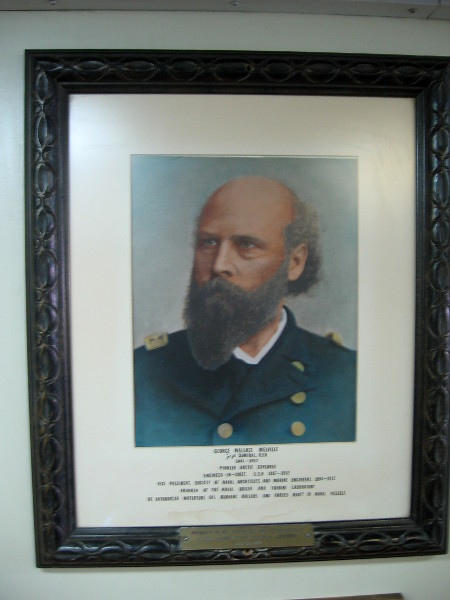 Portrait of George Wallace Melville, the ship's namesake.