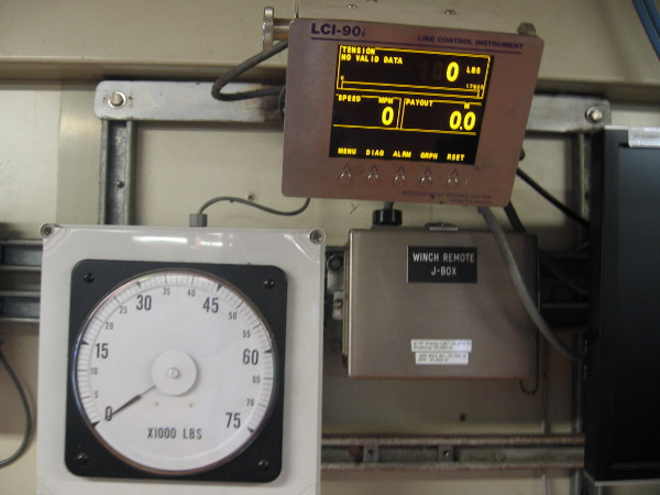 Gauge registers up to 75,000 pounds of tension!