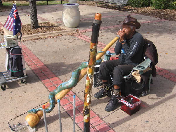 This cool didgeridoo guy can also be occasionally seen at Seaport Village.