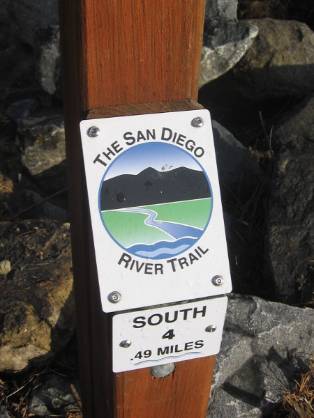 The San Diego River Trail follows natural beauty through Mission Valley.