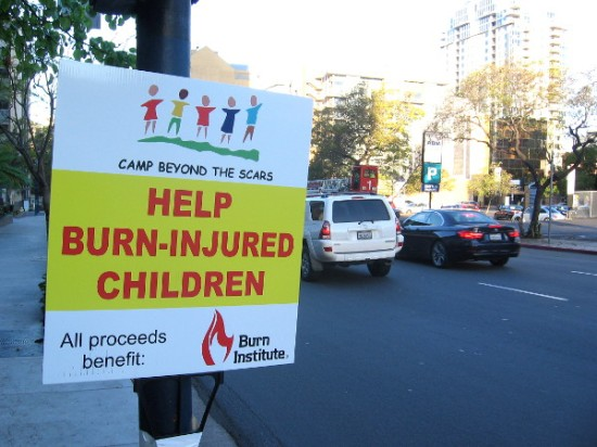 Fill the Boot to help the Burn Institute and children who've suffered from critical burns.