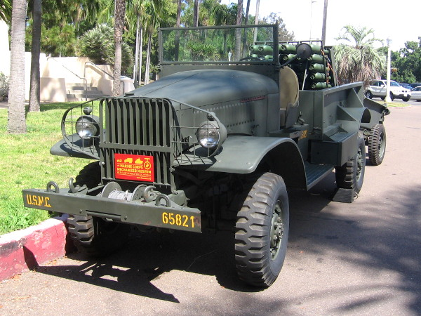 International M-2-4 Rocket Truck used in the Pacific during World War II.