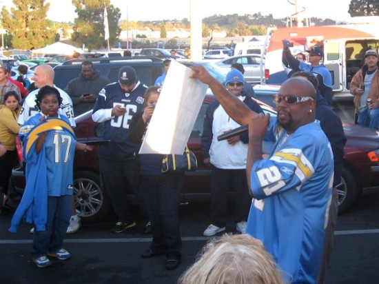 Rapper helped the passionate crowd chant Save Our Bolts for multiple live news cameras.