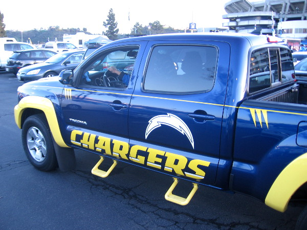 Check out this super cool Chargers custom pickup truck!