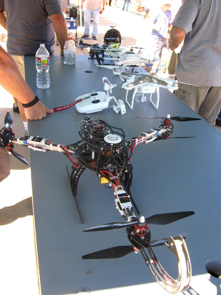 This larger drone was designed to be aerodynamic.