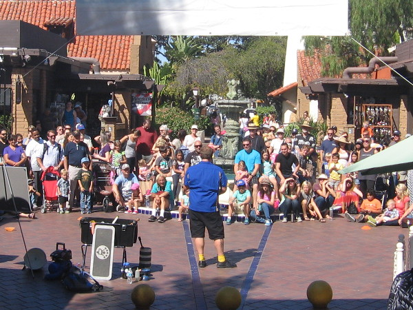 The Frisbee Show featured juggler and comedian Greg Frisbee.