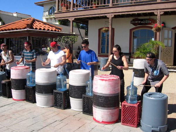CREW is a San Diego-based percussion group that creates music with everyday objects.