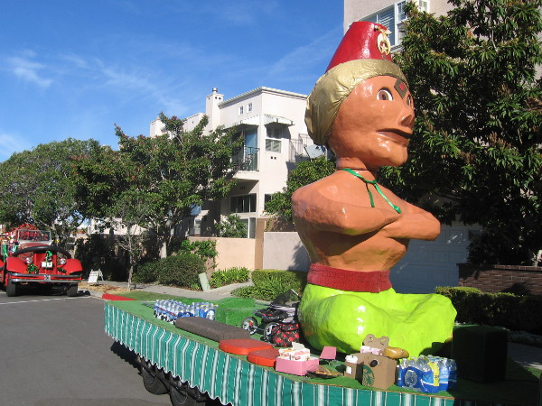 The distinctive Shriners float doesn't look very Irish to me, except for a bit of green!