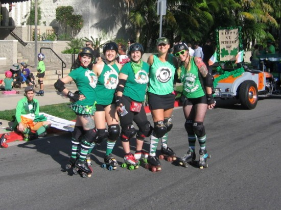 These super nice San Diego Roller Derby ladies posed for my camera!