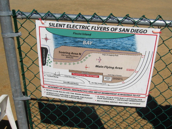 This field is used by the Silent Electric Flyers of San Diego, and their radio-controlled aircraft.