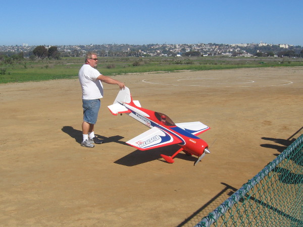 I took this photo on a prior occasion. That radio-controlled plane is huge!