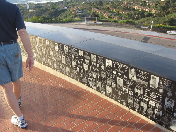 The very energetic volunteer was happy to show me around the memorial.