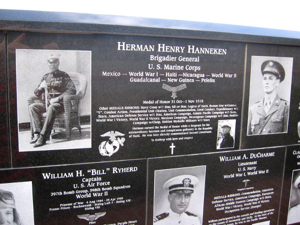 Herman Henry Hanneken, Brigadier General of U.S. Marine Corps, served in many wars long ago.