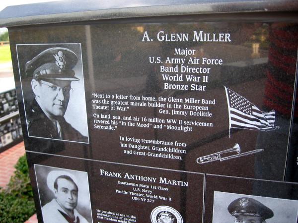 Famed band director Glenn Miller was a great morale builder during World War II.
