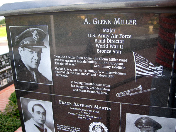 Famed band director Glenn Miller was a great morale builder during World War II.