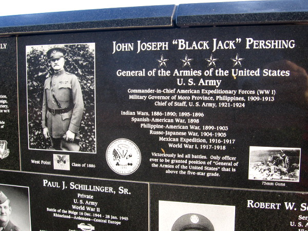 General Black Jack Pershing fought victoriously, from the Indian Wars through World War I.