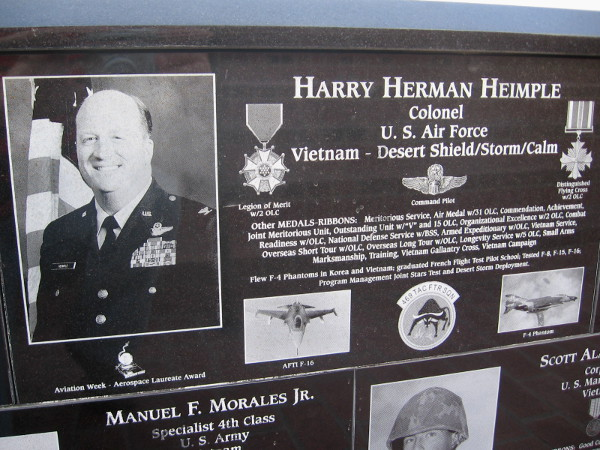 Harry Herman Heimple was a highly decorated U.S. Air Force Colonel during the Vietnam War and Desert Storm.